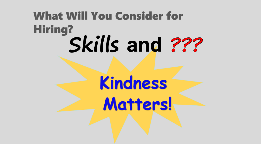Hire for Skill and Kindness in China