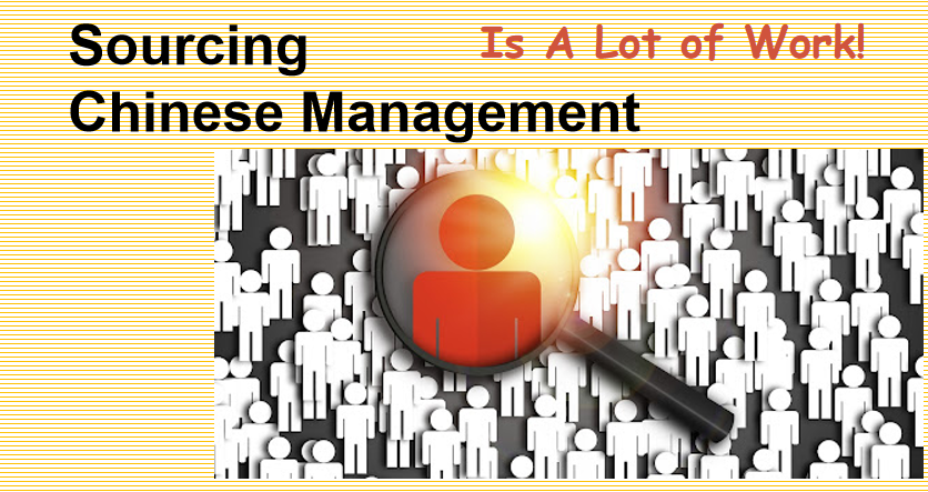 sourcing Chinese management