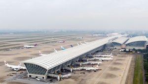 entering China
