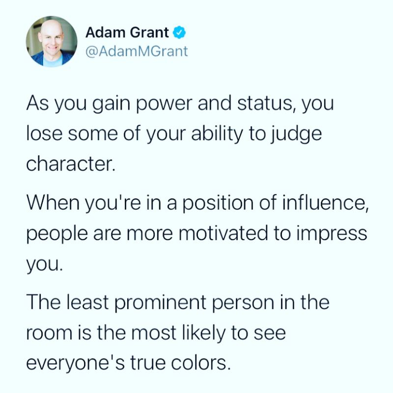 most prominent person sees the least