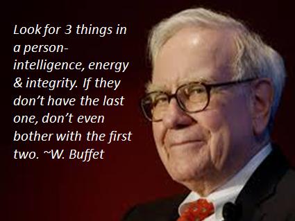 China Integrity The World S Integrity Warren Buffet